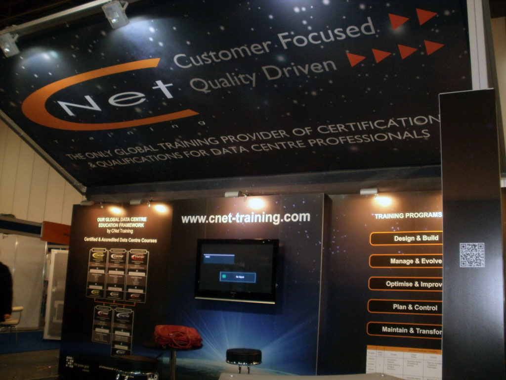 Exhibition Stand Framework : Pictures of our exhibition stand at data centre world