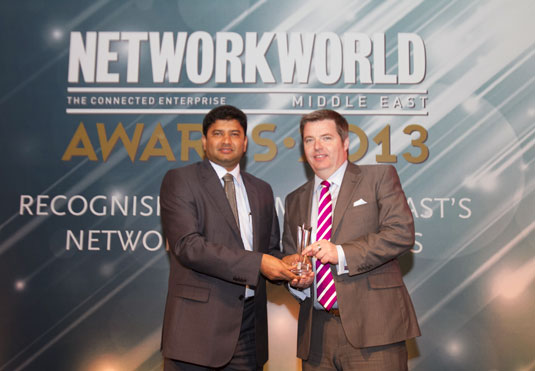 Director Andrew Stevens receiving a Vendor Award for Training Provider of the Year 2013.