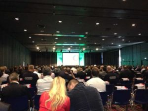 View of the speaker and attendees at the Datacentres Europe conference 2013 during a CNet training presentation