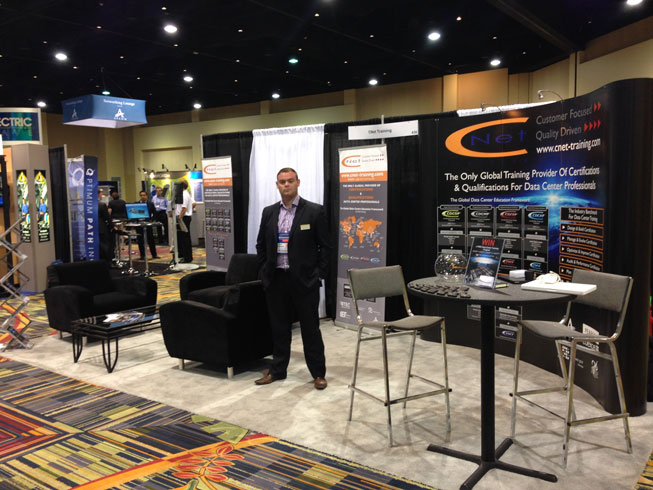 CNet Training's Business Manager Matthew Hawkins at Data Center World Conference Orlando