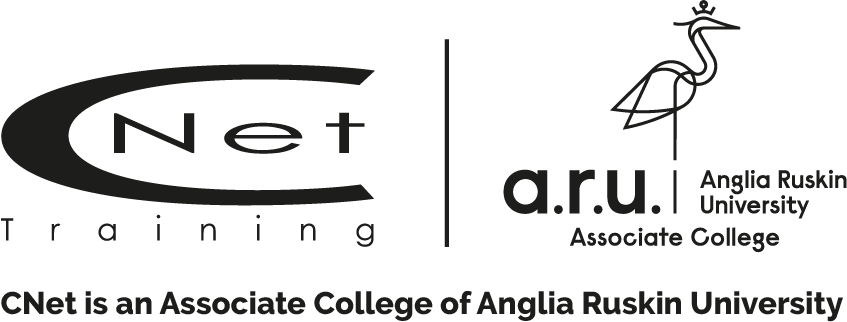 CNet Training and Anglia Ruskin University logo