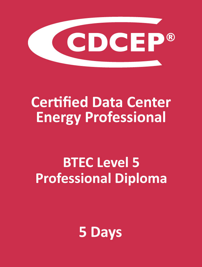 The Certified Data Centre Energy Professional framework mapping duration, certification and qualification level
