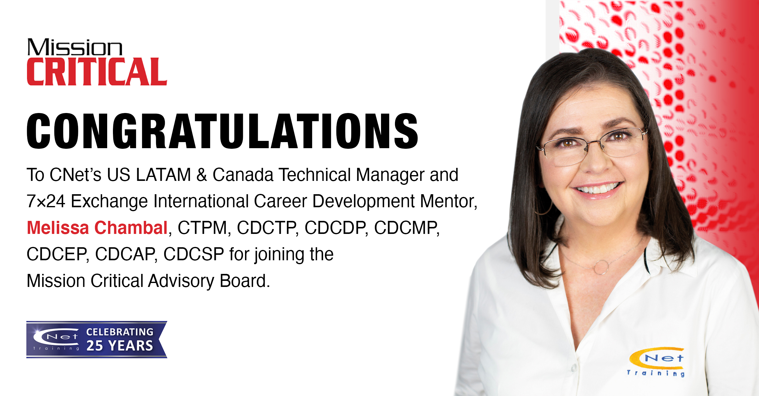 Melissa Chambal - Mission Criticla Advisory Board Member